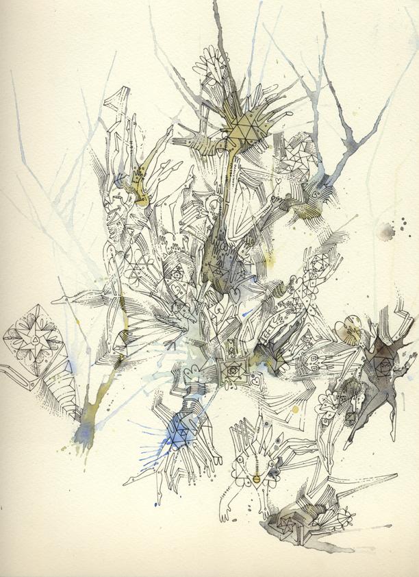 Ink Pen, Aquarelle & Tea