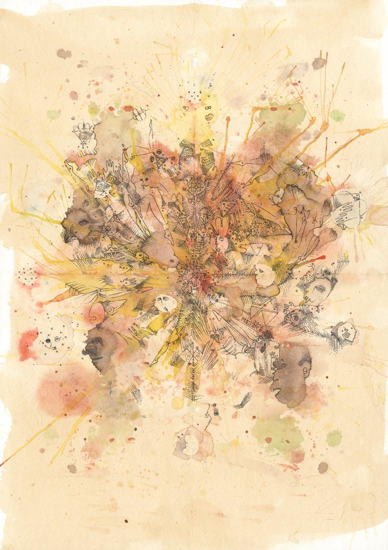 Ink Pen, Aquarelle & Earl Grey