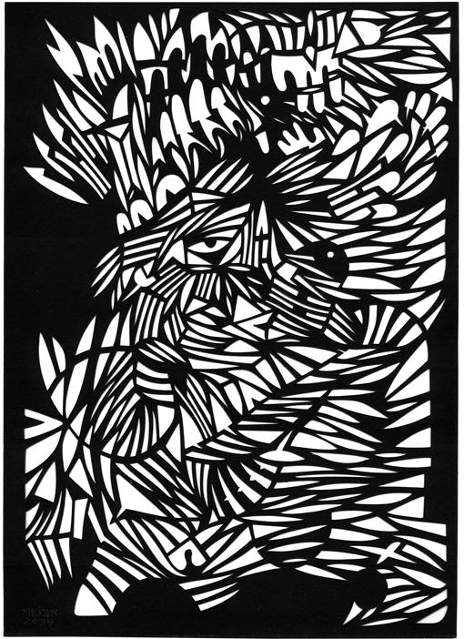 Papercutting, Black paper
