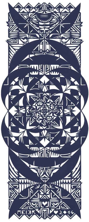 Papercutting, Navy blue Paper